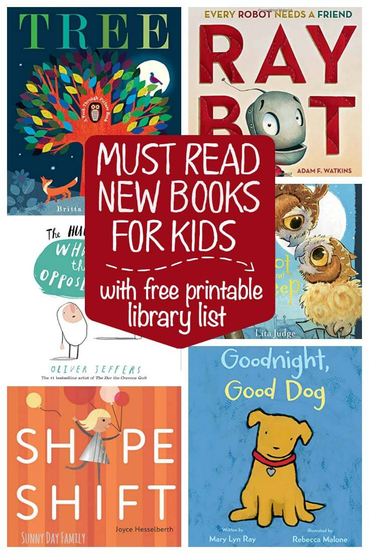 Looking for new kids books? Check out this list of our new favorites and download a free printable list to take to the library too! We LOVE these new books for children and you will too!
