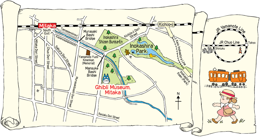 พิพิธภัณฑ์จิบลิ (Ghibli Museum: 三鷹の森ジブリ美術館)