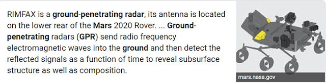 Ground penetrating radar on Mars 2020 rover (Source: Wikipedia)