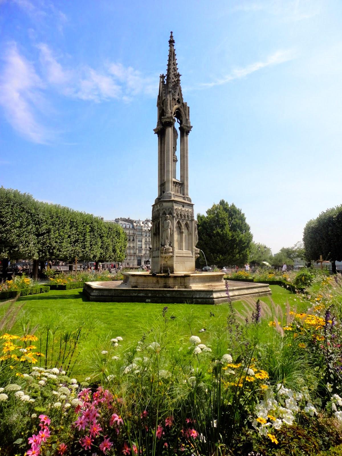 Garden behind Notre Dame Cathedral, Paris