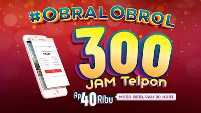 Paket Obral Obrol Telkomsel Nelpon 300 Jam Hanya 40 Ribu