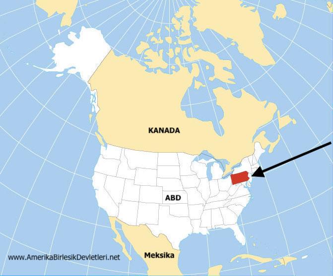 Pensilvanya Haritası