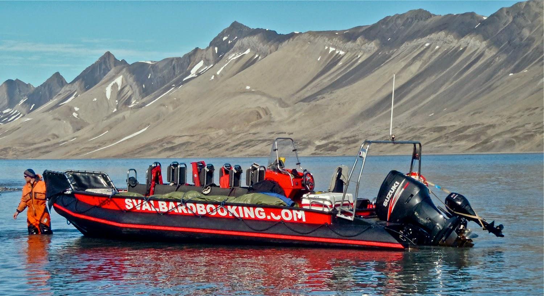 Las zodiak, el mejor medio de transporte en Svalbard