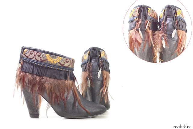 Boho ankle boots by Maikshine DIY