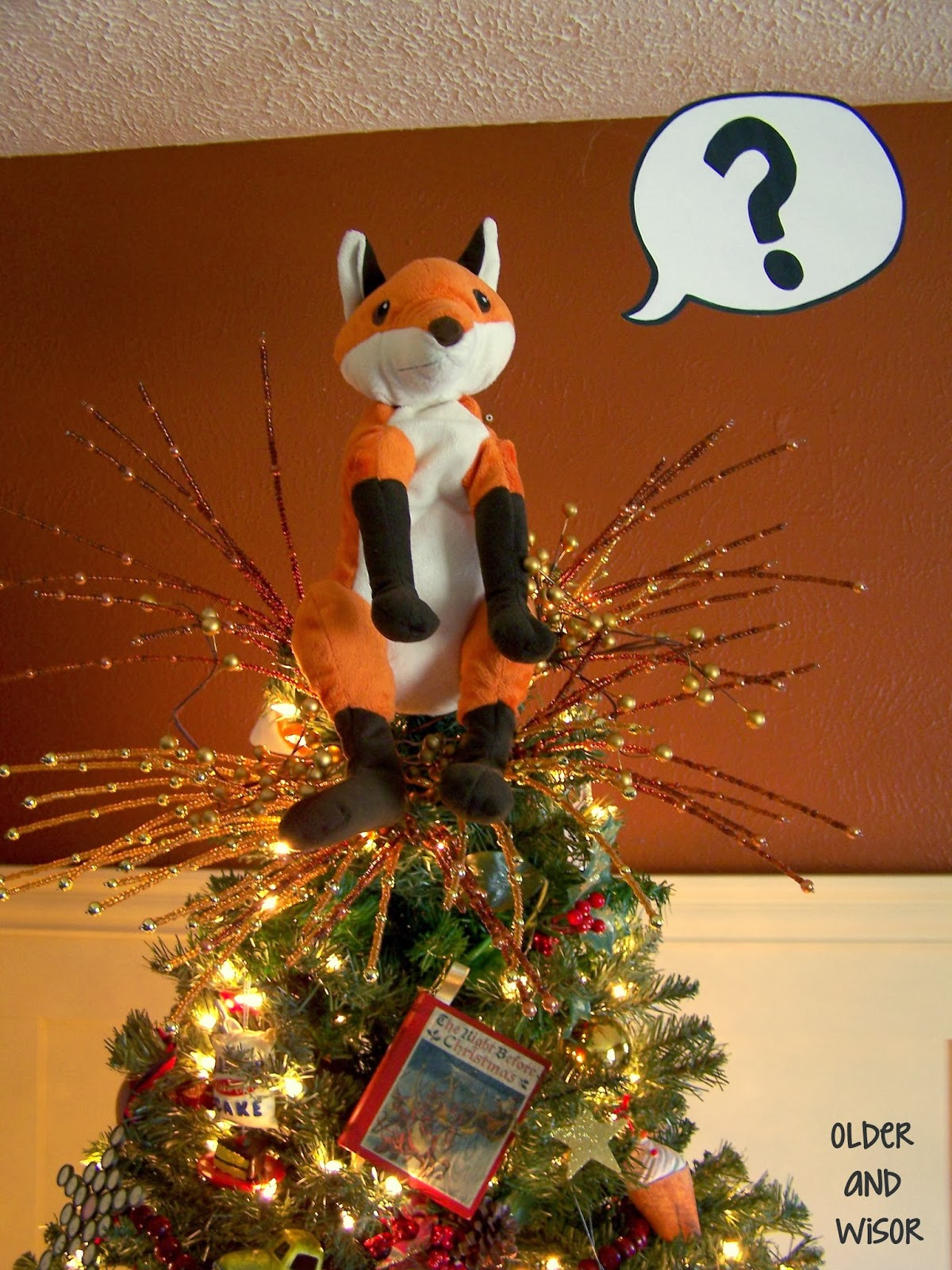 Older And Wisor What Does The Fox Say A Christmas Tree Topper