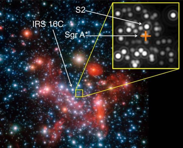 Fotografía que muestra el centro de la Vía Láctea captadas por primera vez gracias a GRAVITY, un potente y novedoso instrumento.