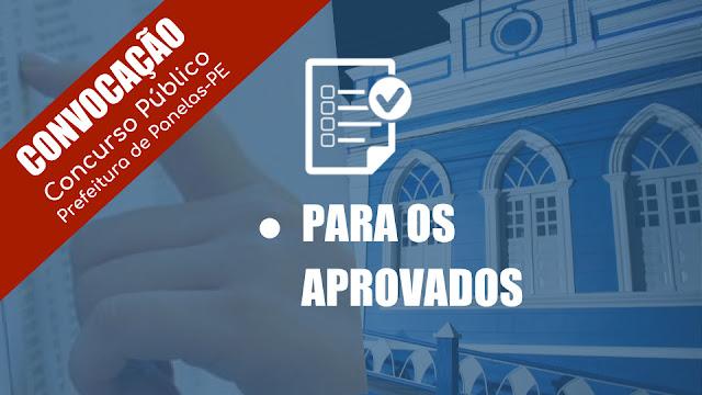 Prefeitura de Panelas-PE publica nomeação e convocação dos candidatos aprovados no concurso público