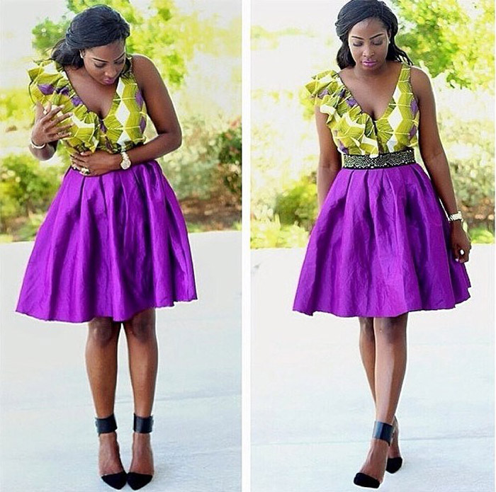 plain and pattern ankara gown (13)
