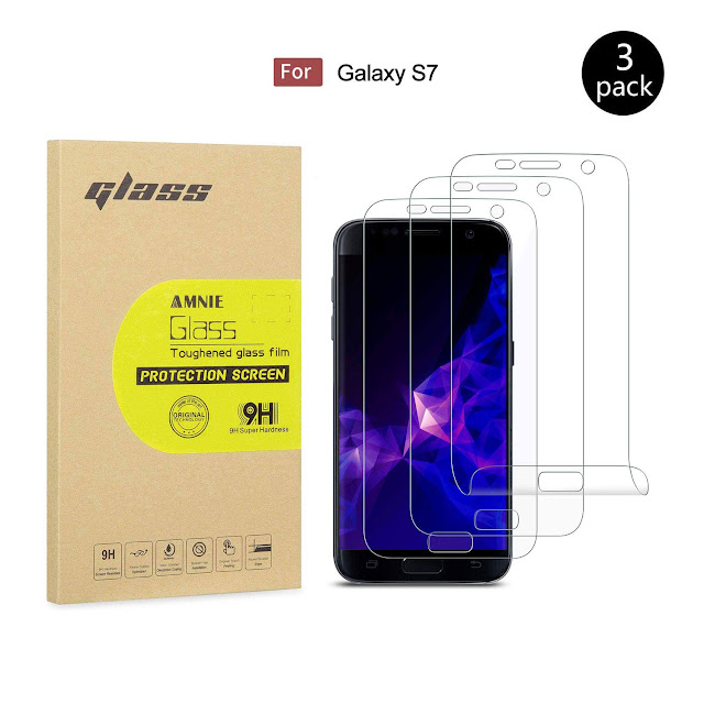 AMNIE [3 Stück Panzerglas Displayschutzfolie nur für Samsung Galaxy S7, 9H Härte, HD, Anti-Kratzen, Anti-Öl, Anti-Bläschen, Panzerglasfolie inkompatible mit Samsung Galaxy - S7 Preis