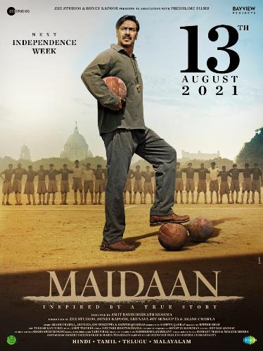 Maidaan new upcoming movie first look, Poster of Ajay, Keerthy next movie download first look Poster, release date