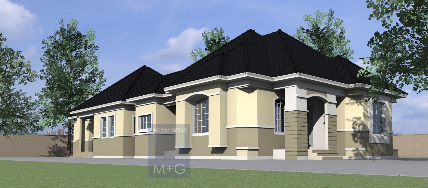 Contemporary Nigerian Residential Architecture 4 Bedroom Cost Of Building A  2 Bedroom House In Kenya Build 2 Bedroom House Price