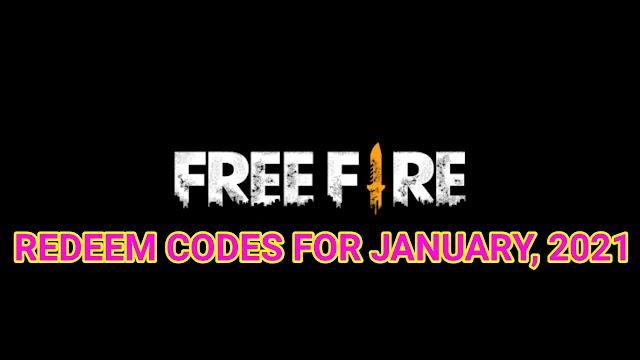 Free Fire redeem code January