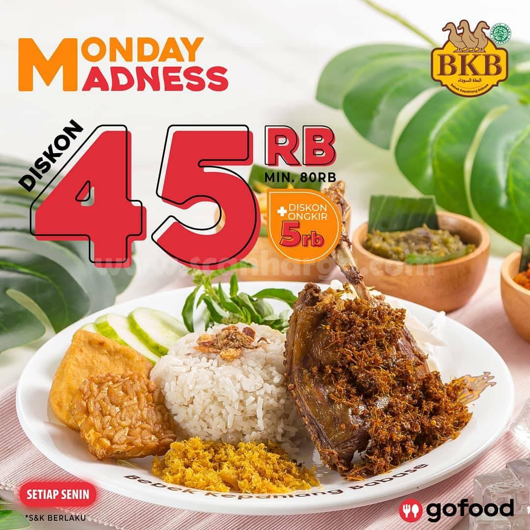 Bebek BKB Promo Monday Madness – Diskon Rp 45.000 khusus Pesan via Gofood