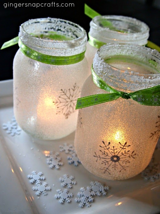 DIY Christmas Mason Jar Luminaries