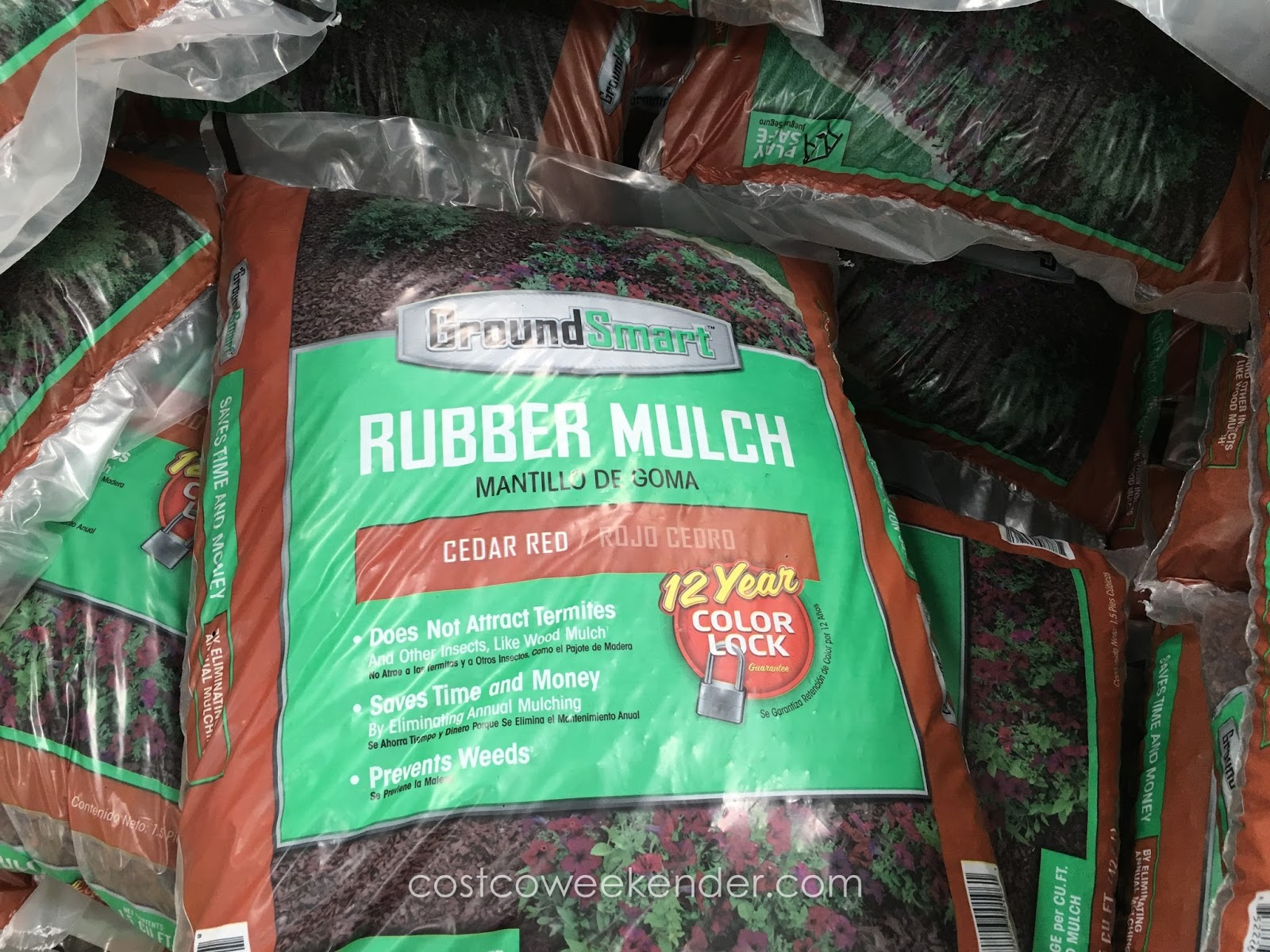 Stop those weeds dead on their tracks with GroundSmart Rubber Mulch