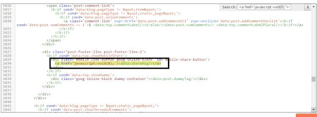 Cara Agar Tombol Share Default Dengan Tampilan Mobile