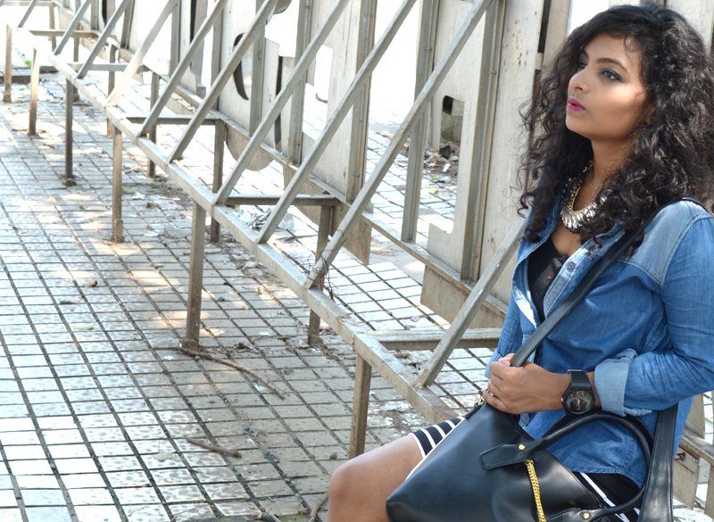stripes and denim indian fashion bloggers