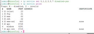 Disable Service Mikrotik