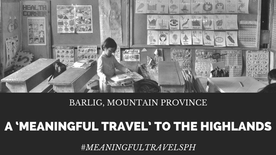 A kid opens her school pack from Meaningful Travels PH