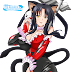Tags: Render, Animal Ears, Bodysuit, Cleavage, Erect nipples, High School DxD, Kuroka, Large Breasts, Nekomimi, Tongue, Twintails