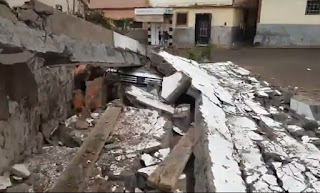 انهيار جزء من سور مؤسسة تعليمية بالدار البيضاء  والمديرية الاقليمية للتعليم بعين الشق توضح (فيديو )