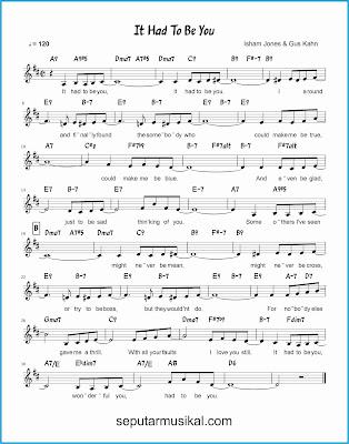 it had to be you lagu jazz standar