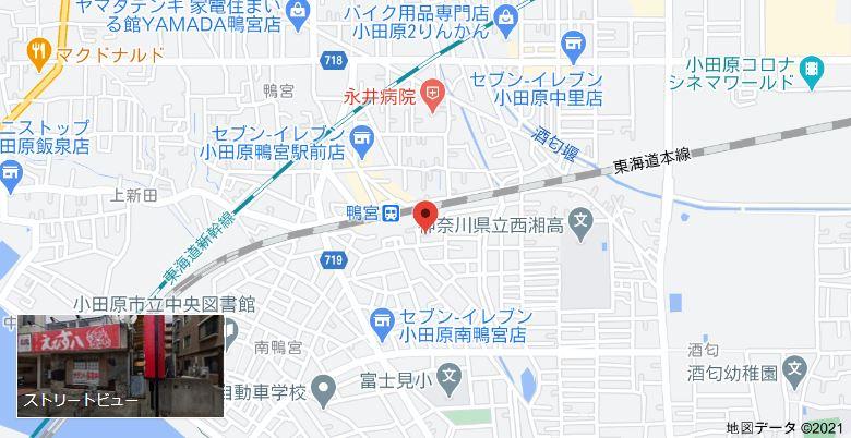 谷山ジム 小田原道場までの地図