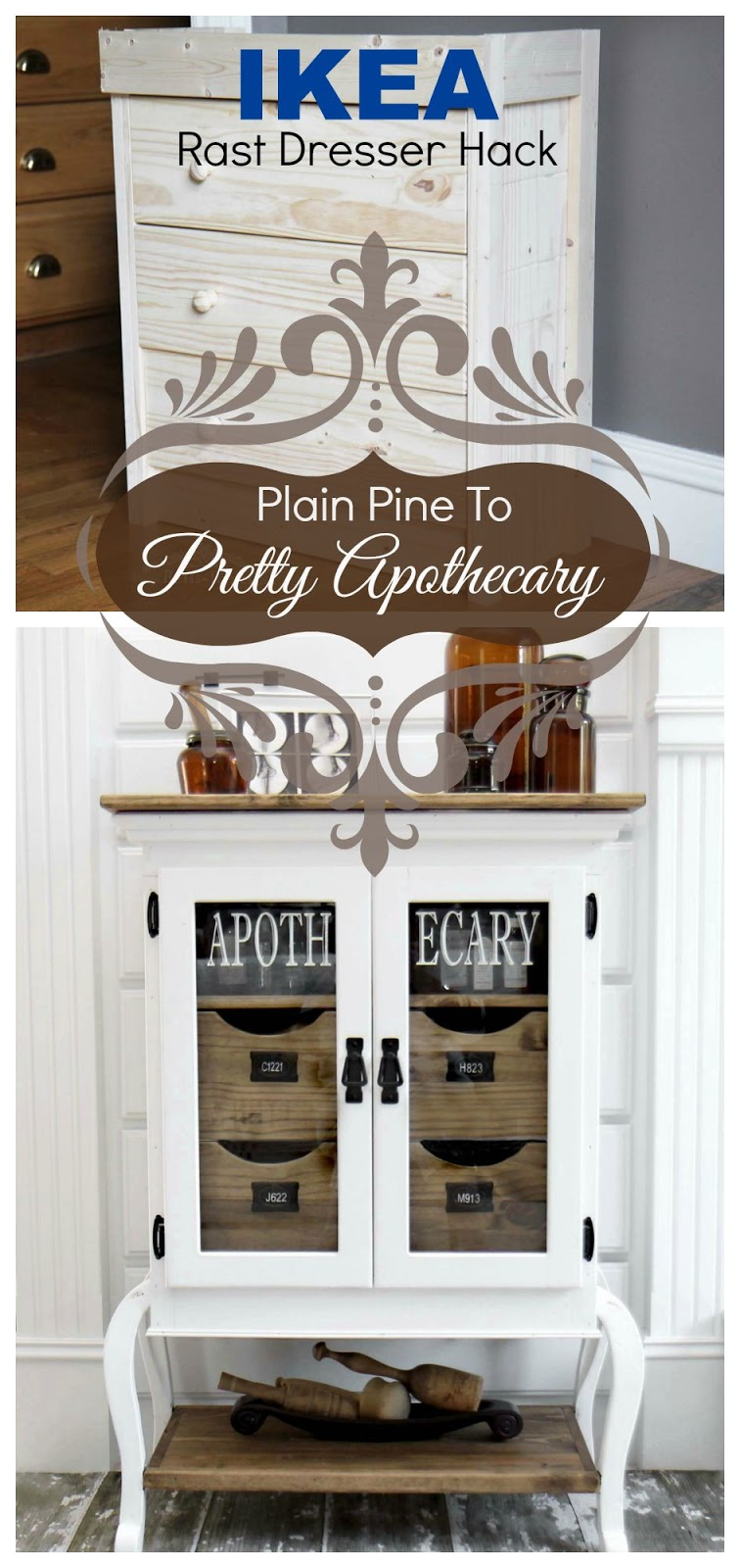 IKEA Hack, Apothecary Cabinet, Bliss Ranch.com