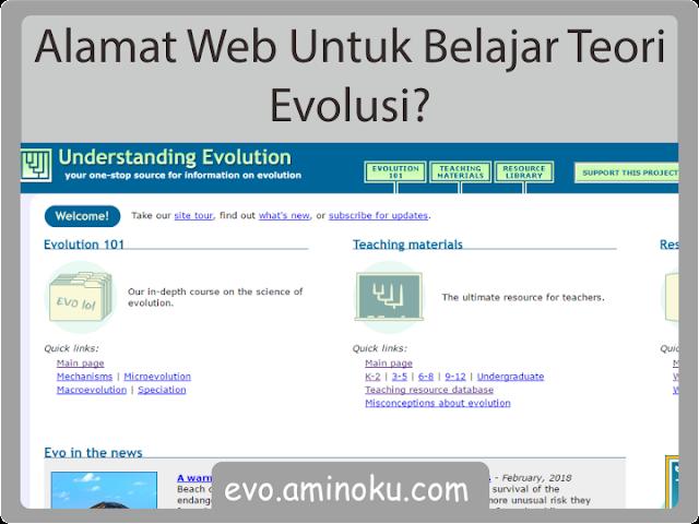 Situs belajar teori evolusi