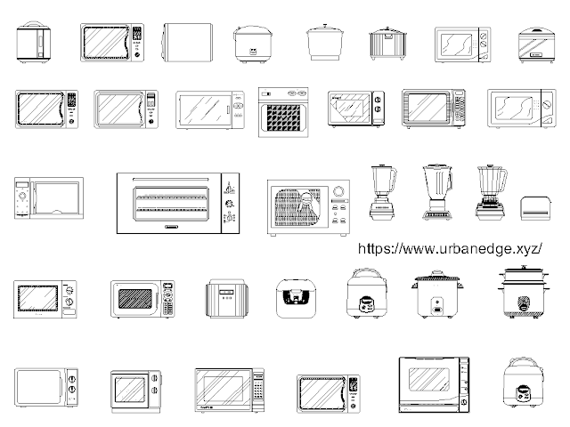Kitchen Appliance free cad blocks download - 35+ free cad blocks