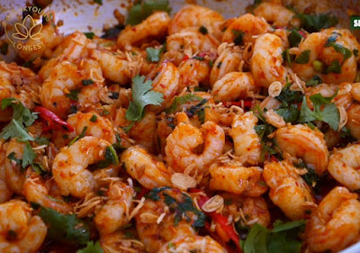 4 minutes spicy garlic shrimp