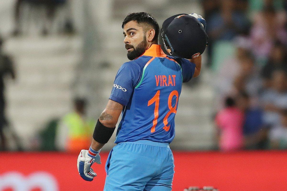 Virat Kohli after getting Century