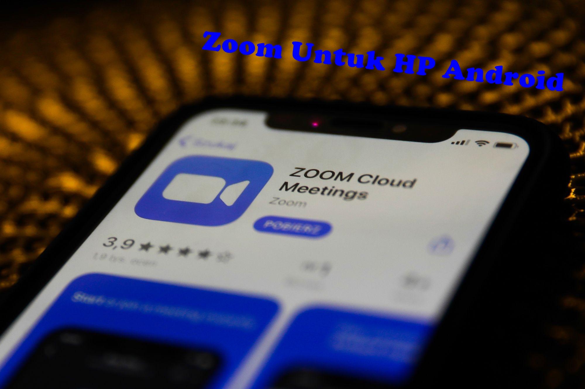 Cara Menggunakan Fitur Aplikasi Zoom Untuk Peserta Meeting Room Di HP Android