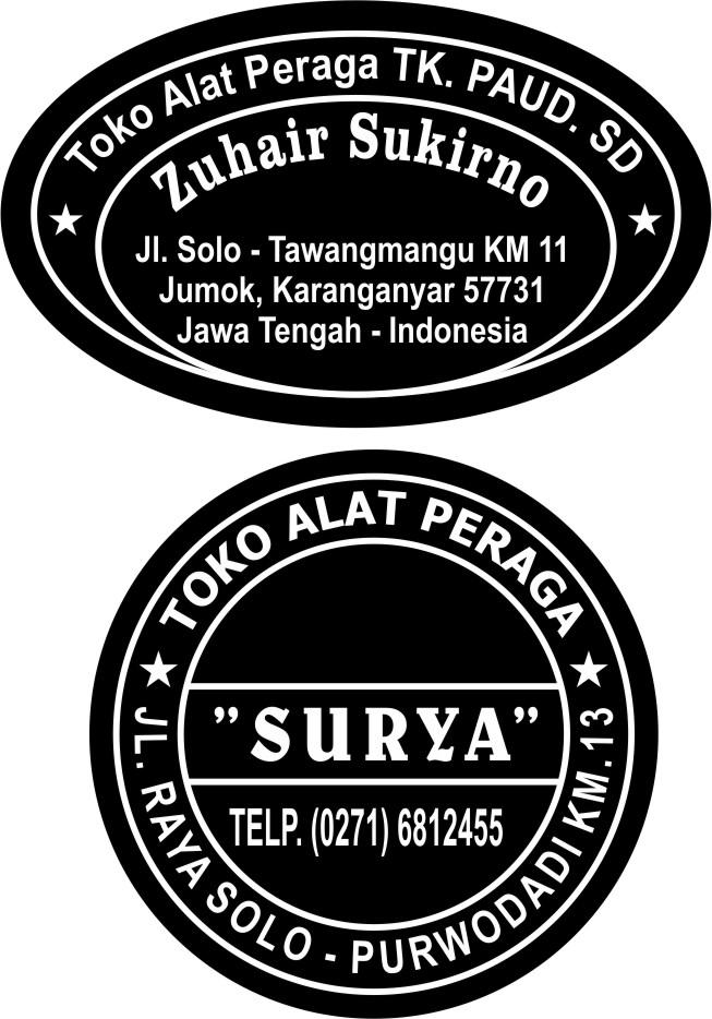Contoh Stempel Toko Alat Tulis Atk Contoh Stempelcontoh Stempel Contoh Gambar Design Logo Cap Logo Stempel