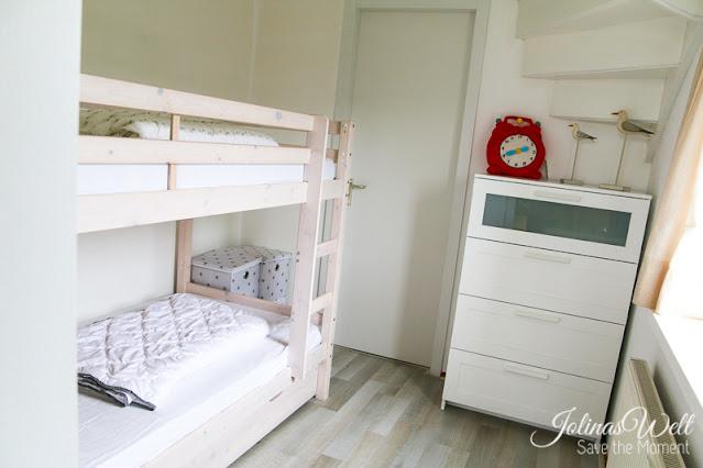 Ferienhaus Strandslag 284 Kinderzimmer mit Etagenbett