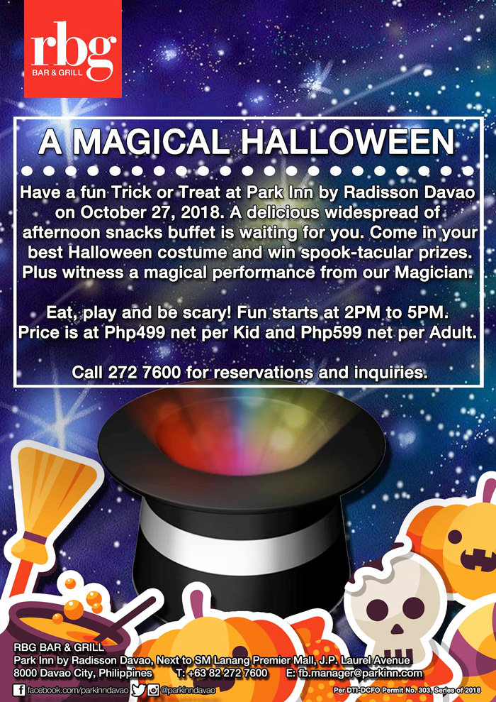 Celebrate Halloween the Magical Way at Park Inn by Radisson Davao