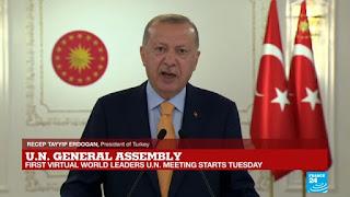 Erdogan Bela Palestina Saat Pidato di Sidang Umum PBB, Dubes Israel Ngacir Meninggalkan Ruangan