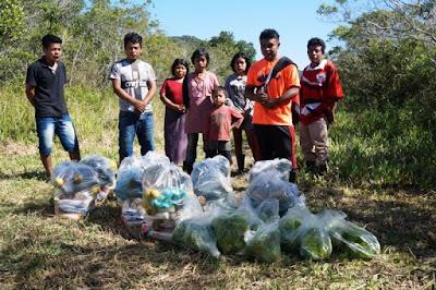 Cestas básicas montadas por quilombolas do Vale do Ribeira serão destinadas para comunidades indígenas