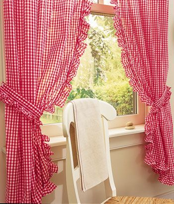How To Sew A Valance Curtain Back Tab Curtains Cafe Tape