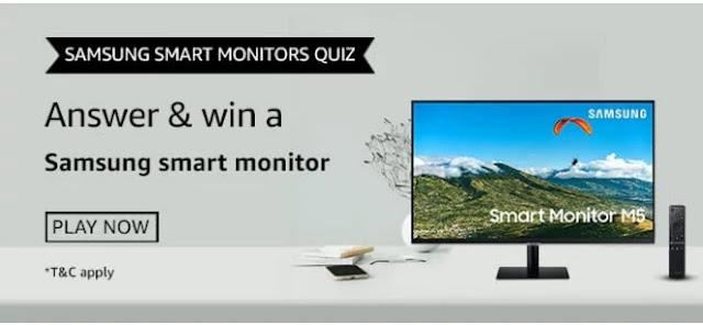 Samsung Smart Monitors क्विज़ जीते-Samsung Smart monitor