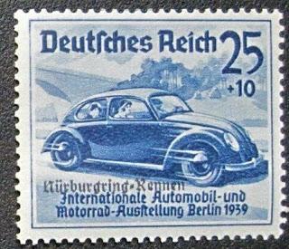 Volkswagen Beetle German Reich stamp