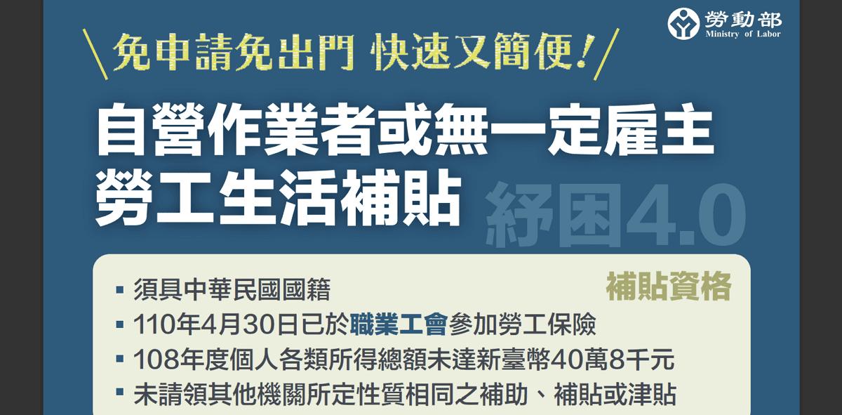 紓困 4.0 勞工生活補貼:勞保局e化服務系統線上查詢&登錄/操作說明