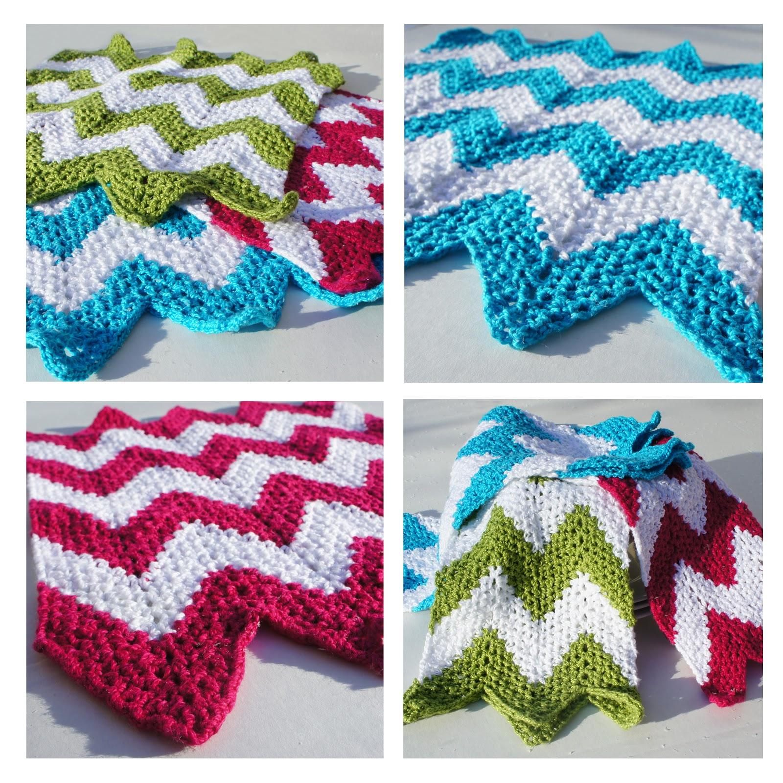 knot•sew•cute design shop: new crochet pattern - chevron dishcloths ...