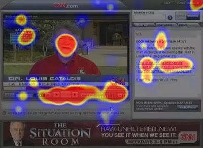 إختيار أماكن الإعلانات الإلكترونية عبر برنامج تتبع العين