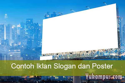 contoh iklan slogan dan poster
