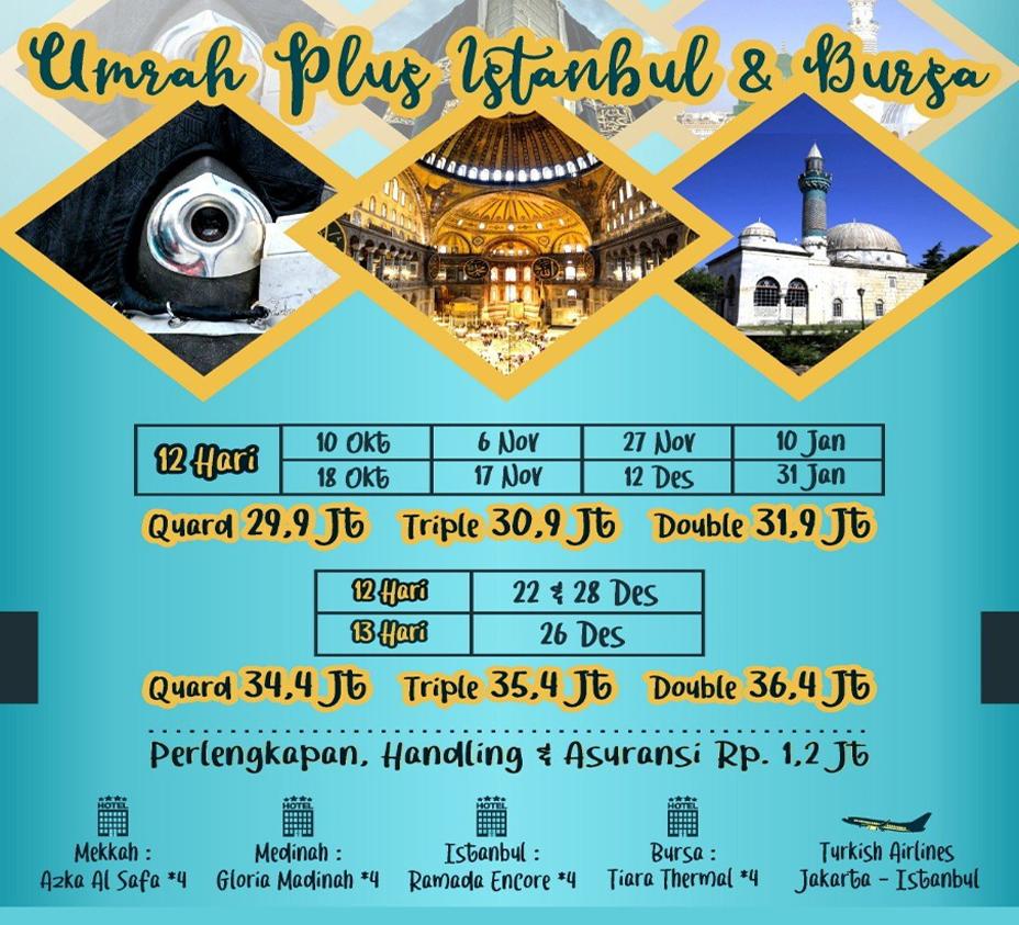 Travel Umroh plus Turki 2019