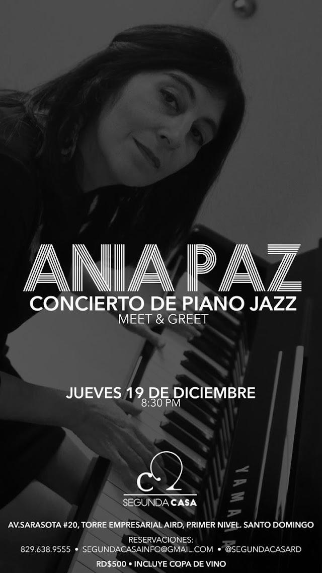 Ania Paz prepara concierto de piano jazz en Segunda Casa