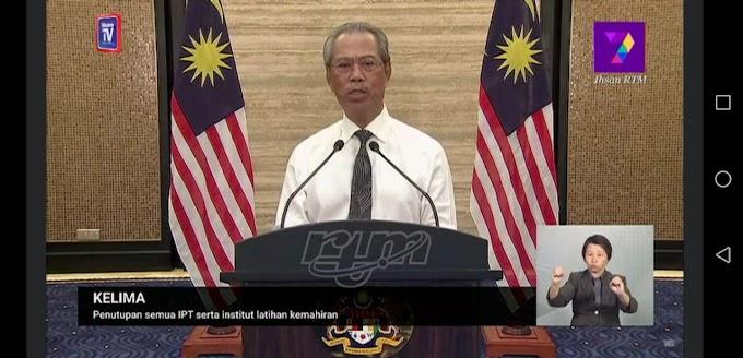 Perintah Kawalan Pergerakan Malaysia Dari 18 Hingga 31 Mac 2020