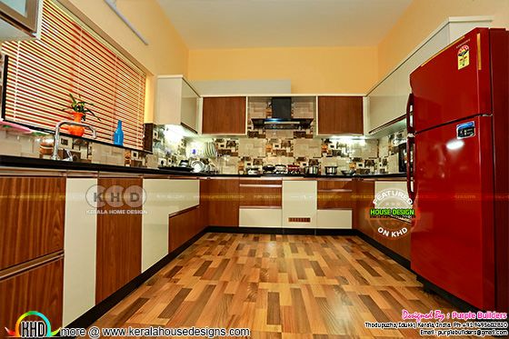Kitchen finished in Kerala