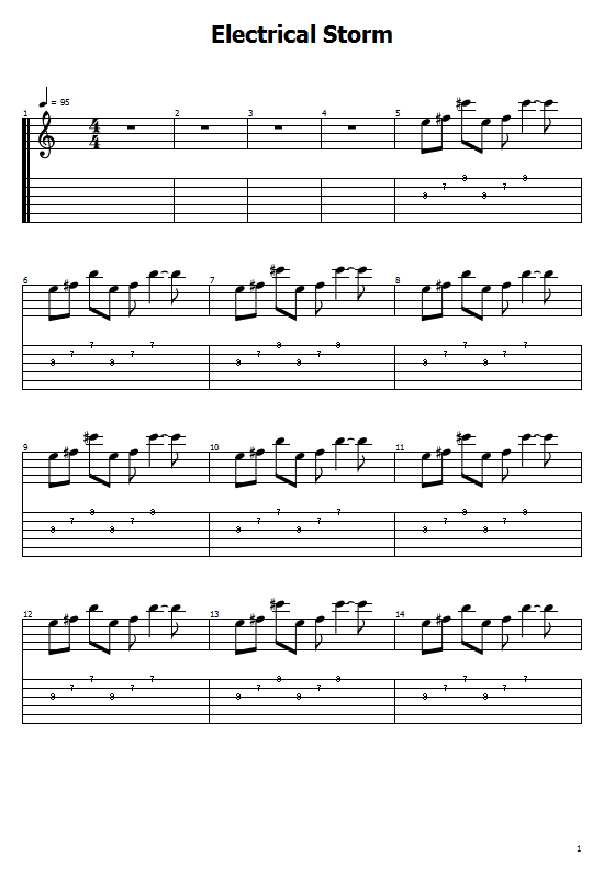 Electrical Storm Tabs U2 - How To Play Electrical Storm On Guitar Tabs & Sheet Online